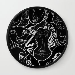 Variations on the Theme of the Human Face Wall Clock