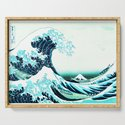 the great wave : aqua teal by purelove