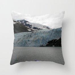 TEXTURES -- A Face of Portage Glacier Throw Pillow