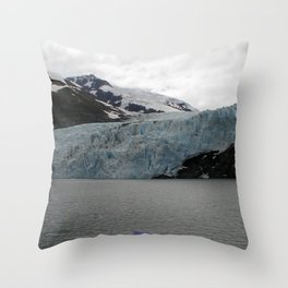 TEXTURES -- A Face of Portage Glacier Throw Pillow