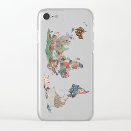 Louis Armstrong Told Us So (teal) Clear iPhone Case