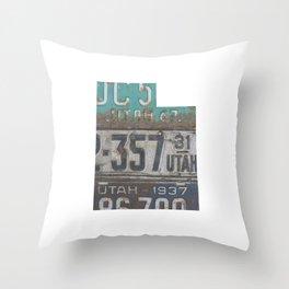 Vintage Utah Throw Pillow