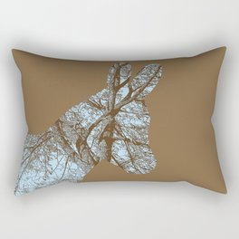 Woodland Donkey Rectangular Pillow