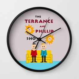 The Terrance and Phillip Show Poster Wall Clock