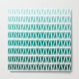 Tee Pee Green Gradient Metal Print