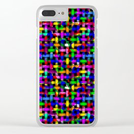 Paint Splodge Colour Abstract Weave Clear iPhone Case