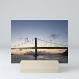 bay bridge Mini Art Print