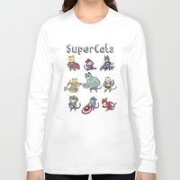 superheros Long Sleeve T-shirts featuring SuperCats by trheewood