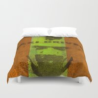 taxi driver Duvet Covers featuring Taxi Driver by Ganech joe