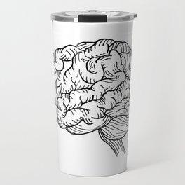 Human Brain Illustration Travel Mug