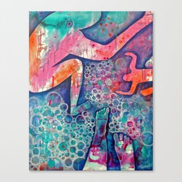 Not Waving, But Drowning Canvas Print
