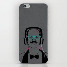 Hipsterstein /gray iPhone & iPod Skin