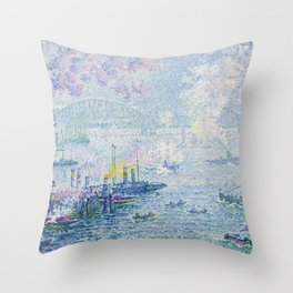 Paul Signac - The Port of Rotterdam Throw Pillow