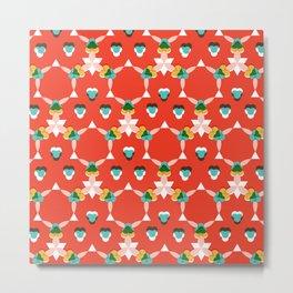 Kaleidoscope Red Metal Print