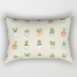 Cute Succulents Rectangular Pillow