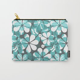 Turquoise Floral Carry-All Pouch