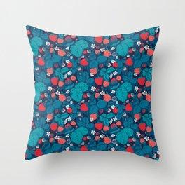 Very Strawberry Throw Pillow