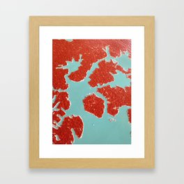 Worn Table Surface Framed Art Print