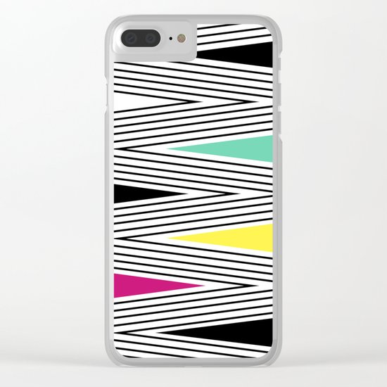 Abstract pattern of zigzag and triangles 3 . Clear iPhone Case