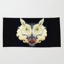 Wolf Lamb Beach Towel