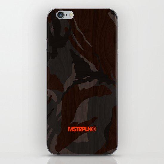 Modern Woodgrain Camouflage / British DPM iPhone & iPod Skin