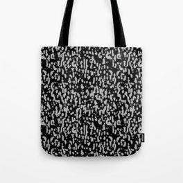 Black & Gray Texture Tote Bag