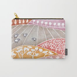 Tatry mountains, sheep watercolor landscape nature Carry-All Pouch
