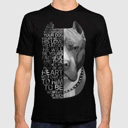 Pit Bull Print, Pit Bull Quote, Pit Bull Gift, Text Dog Portrait, Dog Art, Dog Quotes Print, Text Do T-shirt