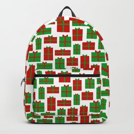 Red and green Christmas presents Backpack