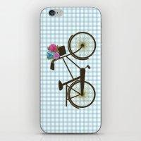 bike iPhone & iPod Skins featuring Bike by Juliana Zimmermann