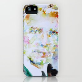 RICHARD GREGG watercolor portrait.1 iPhone Case