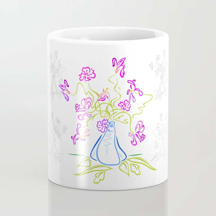 Bouquet of abstract flowers Coffee Mug