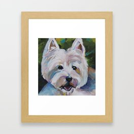 Westie Impressionism Pet Portrait Larsen 1 Framed Art Print