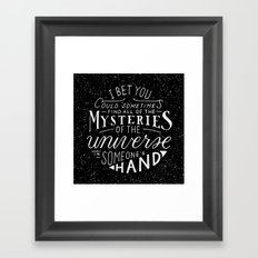 All of the Mysteries of the Universe Framed Art Print