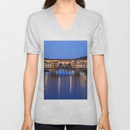 Ponte Vecchio Florence Unisex V-Neck