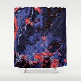 Glitch Cartography #1 Shower Curtain