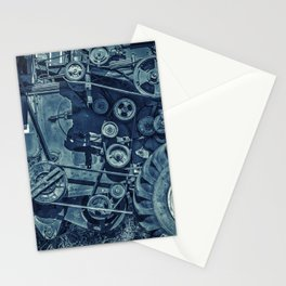 Frosted Combine Harvester Agro Art Stationery Cards