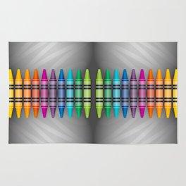 Rainbow Crayons Rug