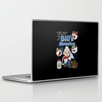 haunted mansion Laptop & iPad Skins featuring Bill's Mansion by Mike Handy Art