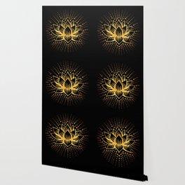 Golden Lotus Mandala Wallpaper