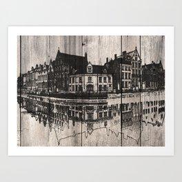In Bruges, Belgium Art Print