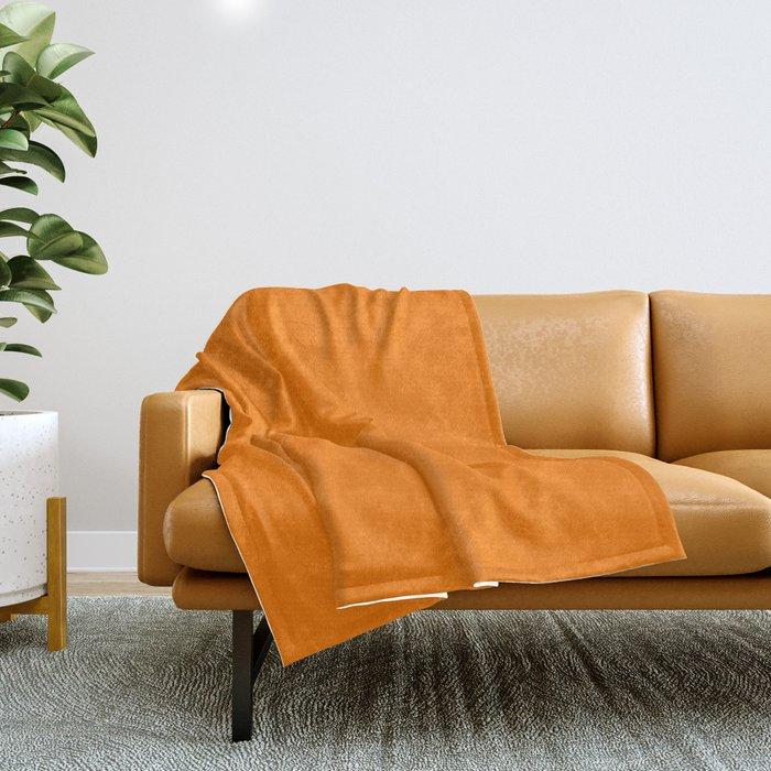 Heat Wave - solid color Throw Blanket