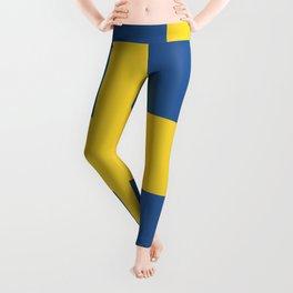 Sweden flag emblem Leggings