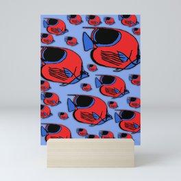 Red & Blue Sunfish Mini Art Print
