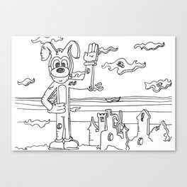 Milty the Mousedog Canvas Print