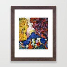 Blue Mountain Der blaue Berg by Vassily Kandinsky Framed Art Print