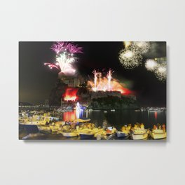 A Firework Explosion! - Ischia Landscape Metal Print