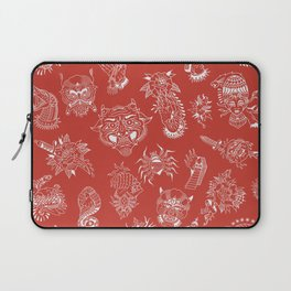 TRADITIONAL TATTOO PATTERN (COLORED) Laptop Sleeve