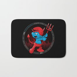 The Little Blue Devil Bath Mat
