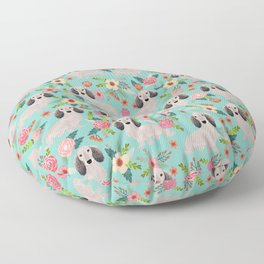 Dachshund florals - shaded cream doxie design cute floral dogs dachshunds cute dog best doxies Floor Pillow